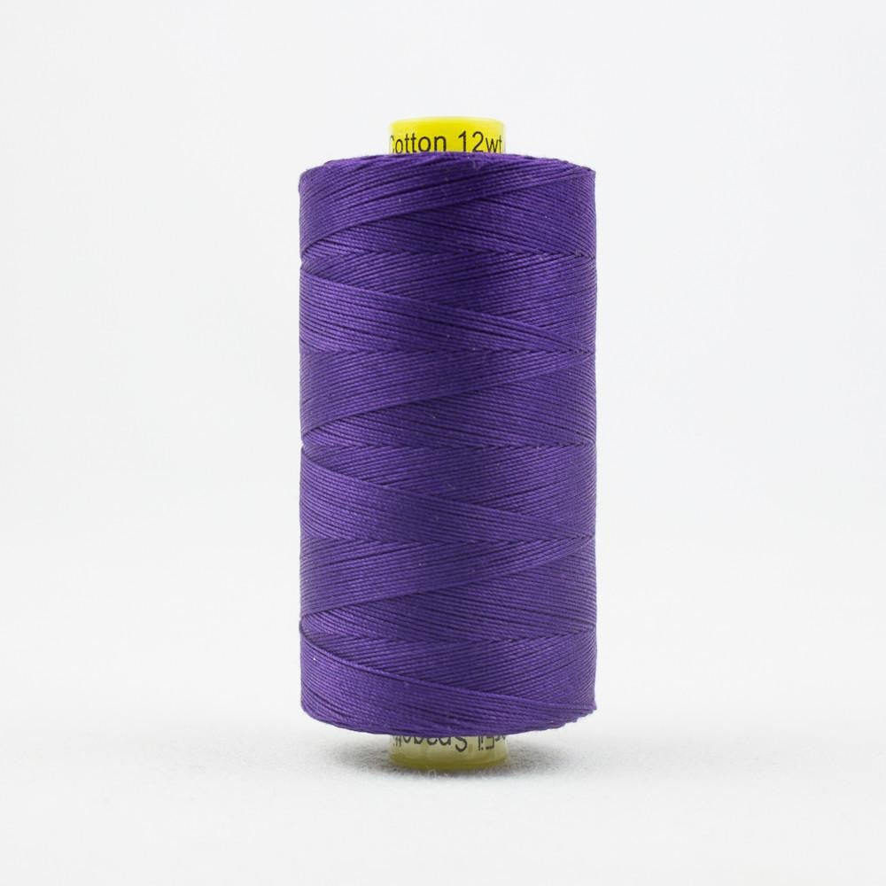 SP07 - Spagetti 12wt Egyptian Cotton Deep Royal Purple Thread - wonderfil-online-eu