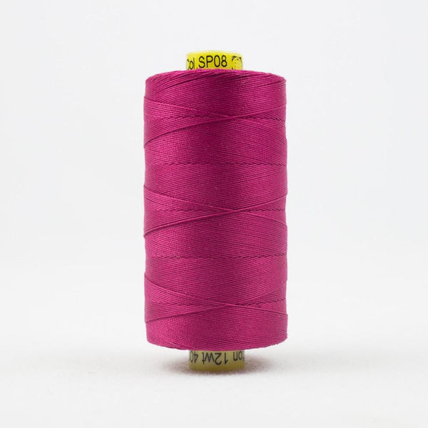 SP08 - Spagetti 12wt Egyptian Cotton Magenta Thread - wonderfil-online-eu