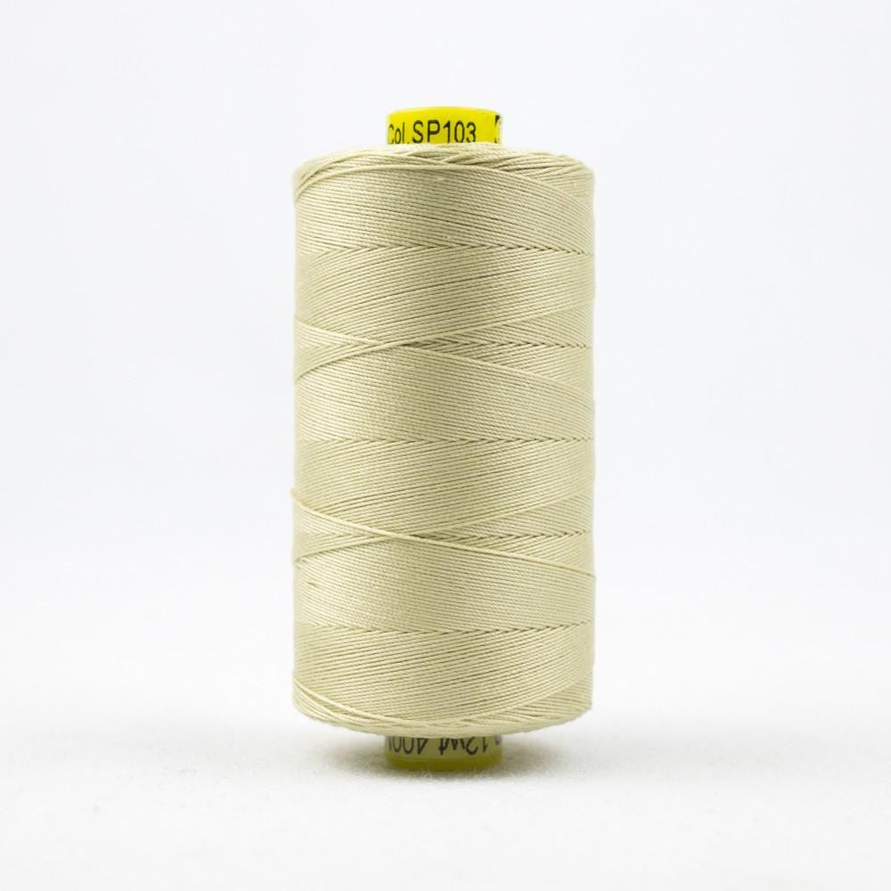SP103 - Spagetti 12wt Egyptian Cotton Vanilla Thread - wonderfil-online-eu