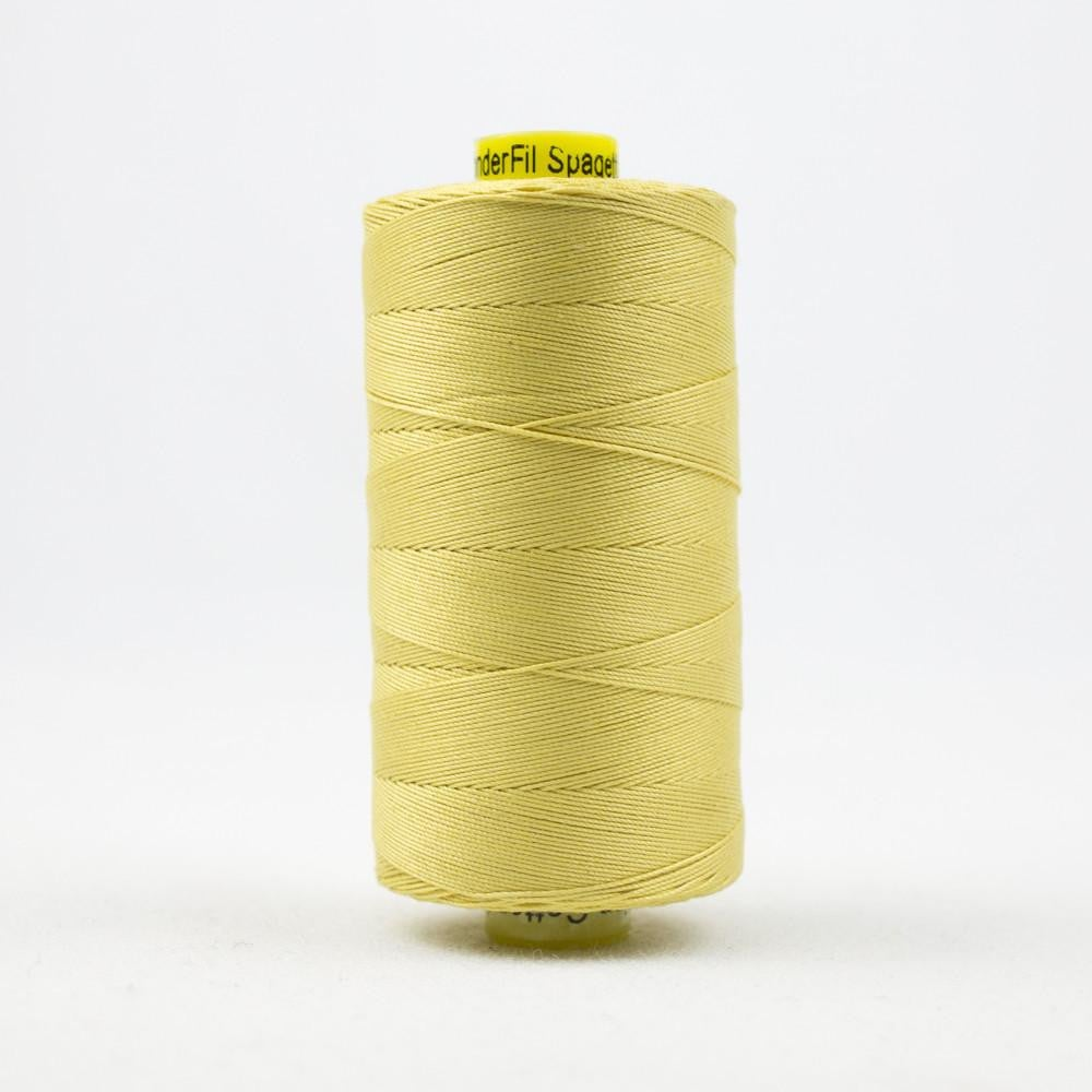 SP26 - Spagetti 12wt Egyptian Cotton Soft Yellow Thread - wonderfil-online-eu