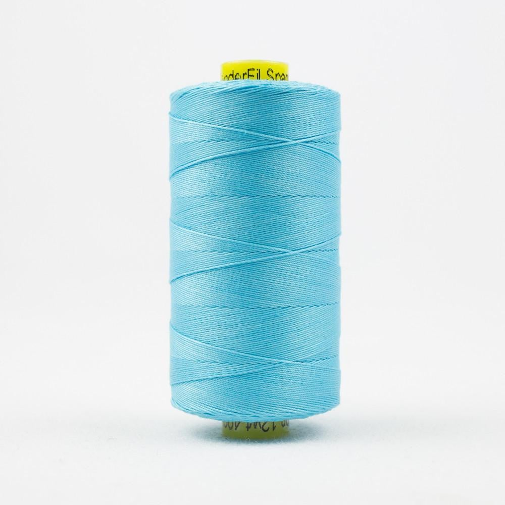 SP45 - Spagetti 12wt Egyptian Cotton Bright Aqua Thread - wonderfil-online-eu