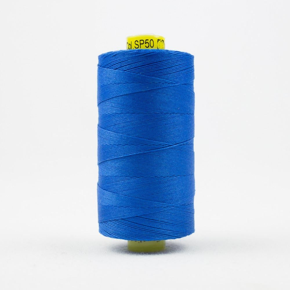 SP50 - Spagetti 12wt Egyptian Cotton Royal Blue Thread - wonderfil-online-eu