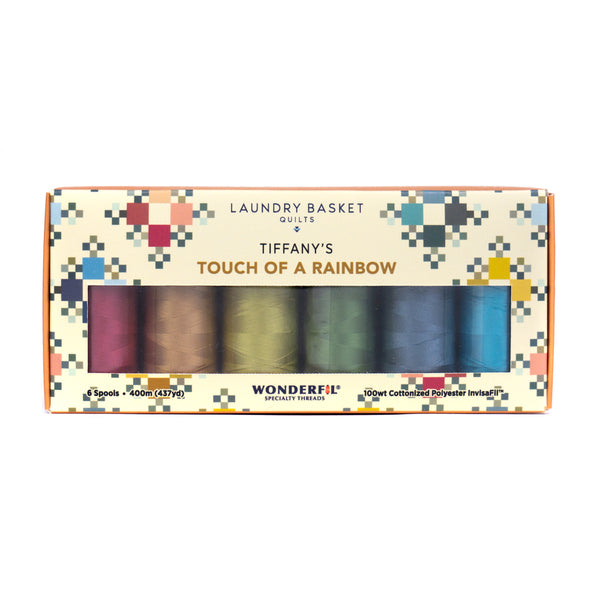 Tiffany's Touch of a Rainbow by Edyta Sitar - Invisible Thread Pack