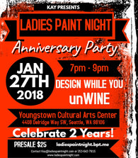 Ladies Paint Night Anniversary Party 1/27