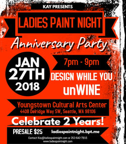 Ladies Paint Night Anniversary Party