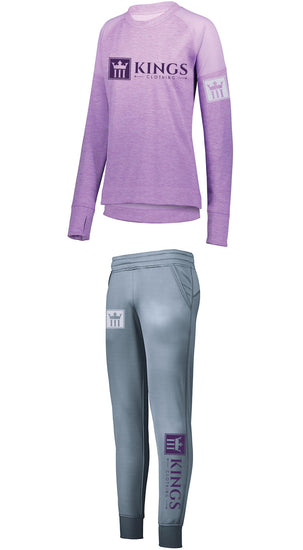 3Kings Ladies Light Lavender Performace Jogger Set