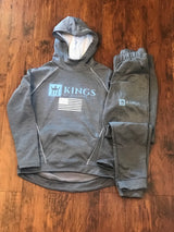 3Kings Women's Zoe Tonal Silver/graphite/Carolina Blue Jogger set - 3KingsClothing ,blogs ,fashion, jordan , t-shirts, sweatshirts, hoodie, dad hat,