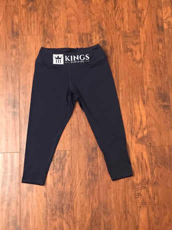 3Kings Navy/Reflective Capri Leggings - 3KingsClothing ,blogs ,fashion, jordan , t-shirts, sweatshirts, hoodie, dad hat,