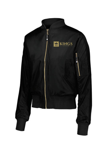 3Kings Ladies Black/Gold Bomber