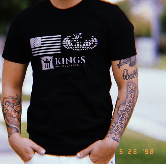 "3Kings ""WorldWide"" Reflective Tee - 3KingsClothing ,blogs ,fashion, jordan , t-shirts, sweatshirts, hoodie, dad hat,"