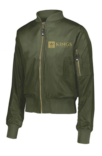 3Kings Military Green/Gold Bomber Jacket