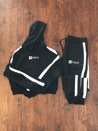 3Kings  Women's Crop Hoodie/Jogger Set - 3KingsClothing ,blogs ,fashion, jordan , t-shirts, sweatshirts, hoodie, dad hat,