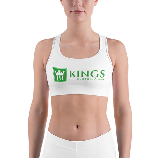 3kings Green Full Logo Sports bra - 3KingsClothing ,blogs ,fashion, jordan , t-shirts, sweatshirts, hoodie, dad hat,