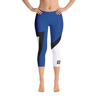 3Kings Bold Blue Capri Leggings - 3KingsClothing ,blogs ,fashion, jordan , t-shirts, sweatshirts, hoodie, dad hat,