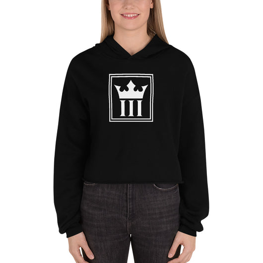 3Kings Crown Logo Crop Hoodie - 3KingsClothing ,blogs ,fashion, jordan , t-shirts, sweatshirts, hoodie, dad hat,