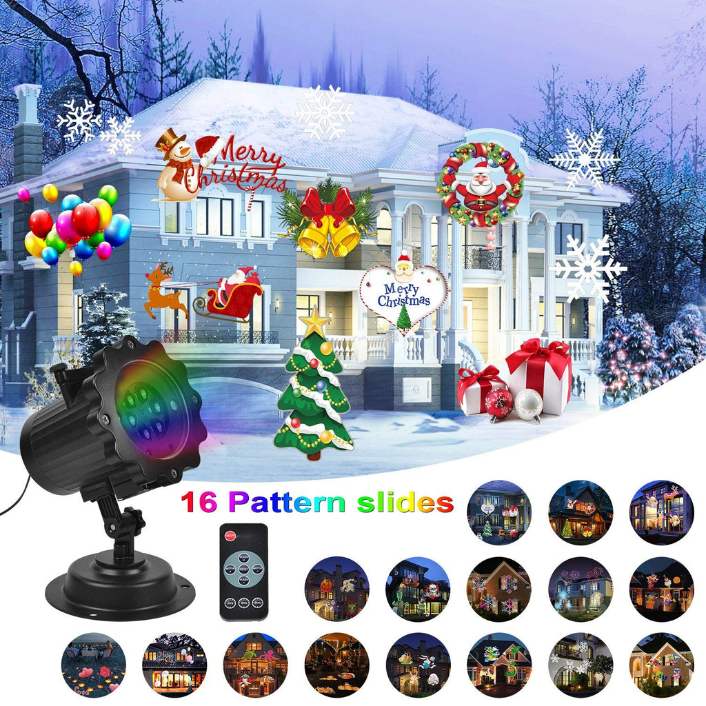 Christmas Projector.Kmashi Christmas Projector Light 16 Patterns Projector Light With Remote Control Timer Show Landscape Lamp Waterproof Holiday Led Light For New Year