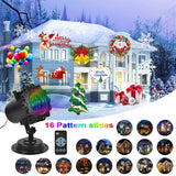 KMASHI Christmas Projector Light, 16 Patterns Projector Light with Remote Control Timer Show Landscape Lamp, Waterproof Holiday LED Light for New Year Birthday Party Easter Day Halloween Decorations