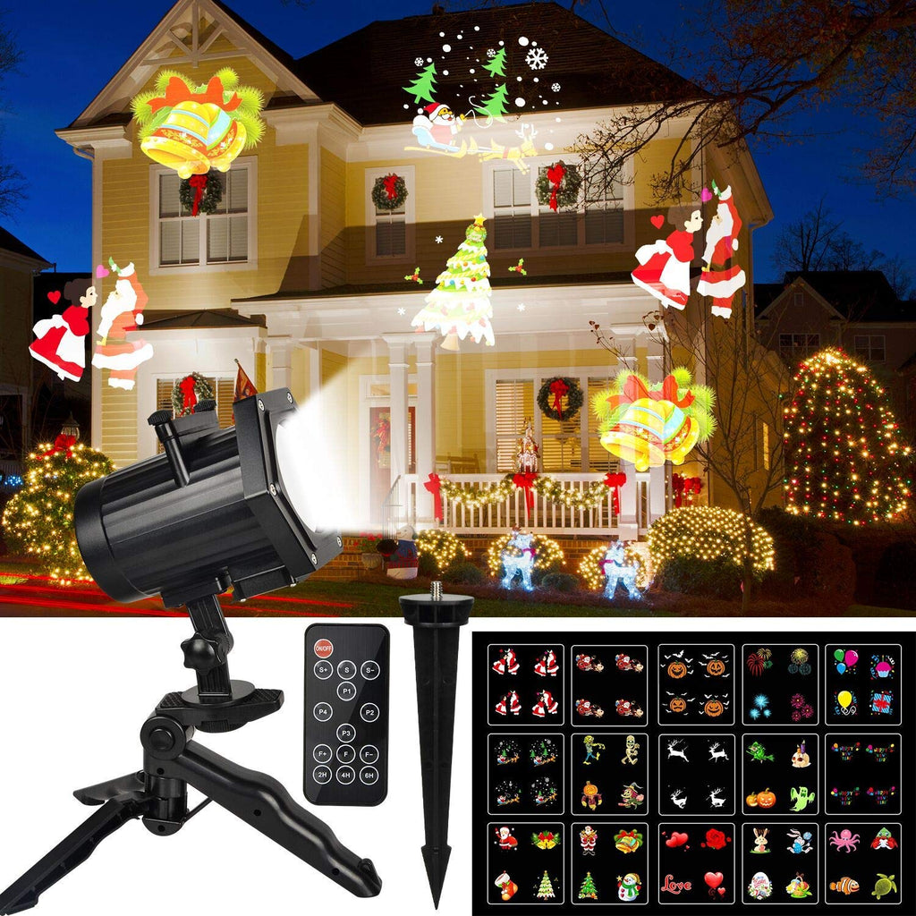 Christmas Projector.Kmashi Christmas Light Dynamic Outdoor Christmas Projector Light 15 Switchable Pattern Rf Remote Control And Timer Waterproof Holiday Decoration