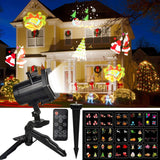 KMASHI Christmas Light, Dynamic Outdoor Christmas Projector Light 15 Switchable Pattern, RF Remote Control and Timer, Waterproof Holiday Decoration Light for Halloween Christmas Wedding Birthday Party