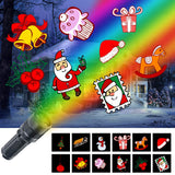 KMASHI Christmas Light, LED Portable Flashlight Build in 12 Rotatable Patterns, Battery Operated Projector Light Holiday Decorative Light for Christmas Home Birthday Party Decoration