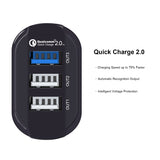 KMASHI 3-Port Quick Charge 2.0 USB Portable Car Charger,