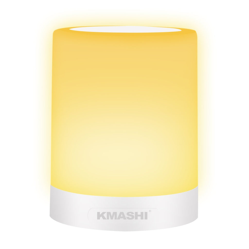 KMASHI Table Lamp, LED Bedside Lamp Dimmable Warm White Night Light wi
