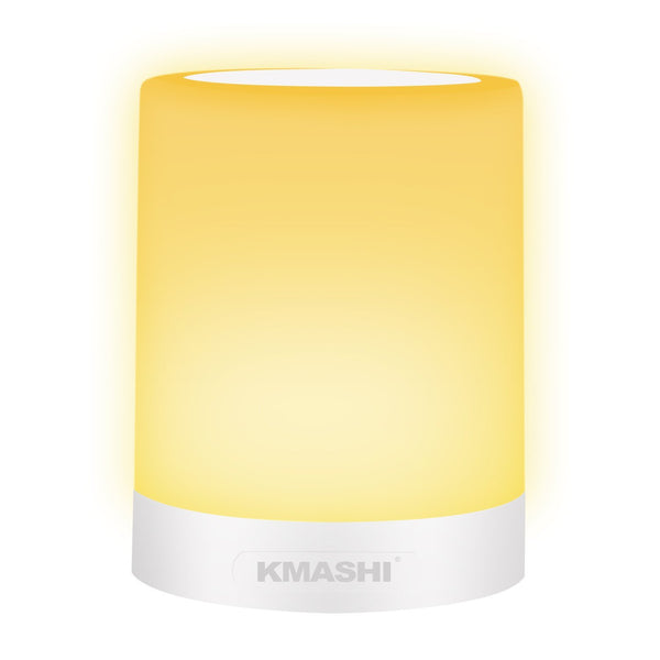 KMASHI Table Lamp, LED Bedside Lamp Dimmable Warm White Night Light with Touch Sensor and Color Changing Modes