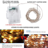 KMASHI LED String Lights, 16ft 50LED Fairy Lights Battery Operated, Soft Copper Wire with Multi Colors Changing Decorative Lights for Indoor Outdoor Use, Waterproof (2Pack)