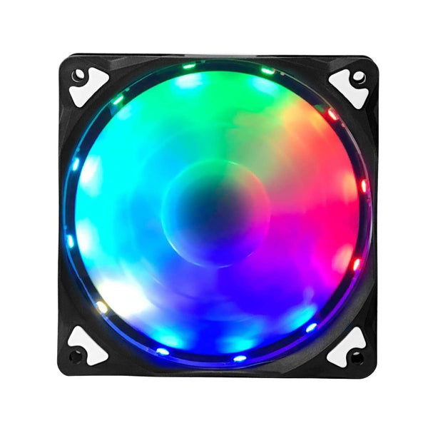 KMASHI RGB Case Fan, LED Wireless Ring Fan 3 Pack 120mm with Controller, Noiseless High Airflow Multicolor Computer Cooling Fan for Computer Cases, CPU Coolers and Radiator