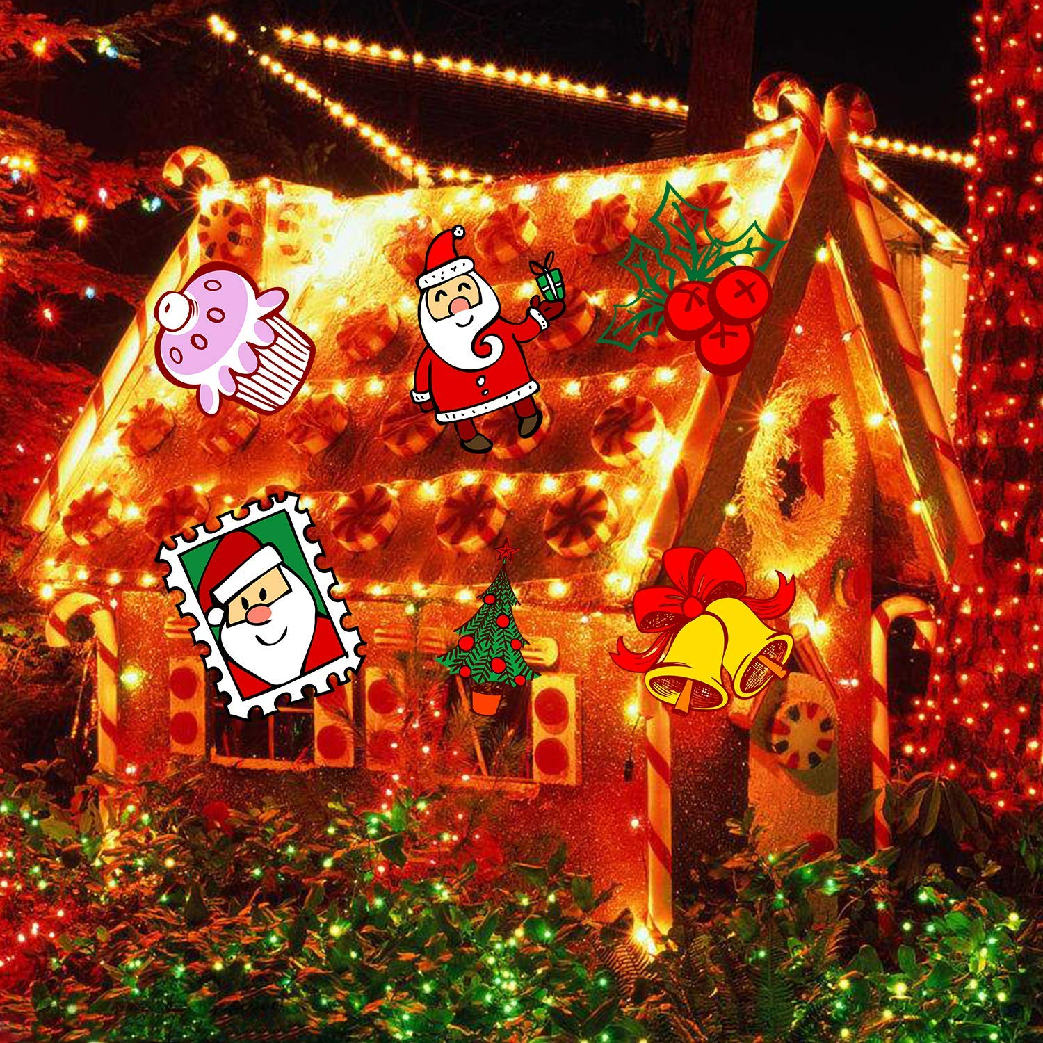 Portable Christmas Lights.Kmashi Christmas Light Led Portable Flashlight Build In 12 Rotatable Patterns Battery Operated Projector Light Holiday Decorative Light For
