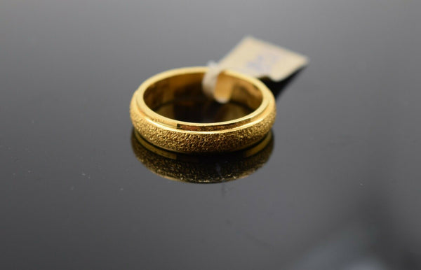 22k Ring Solid Gold Ring Ladies Jewelry Modern Sand Blast Finish Design R1851