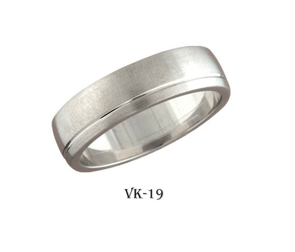 18k Solid Gold Elegant Ladies Modern High Polished Flat Band 6MM Ring VK19v