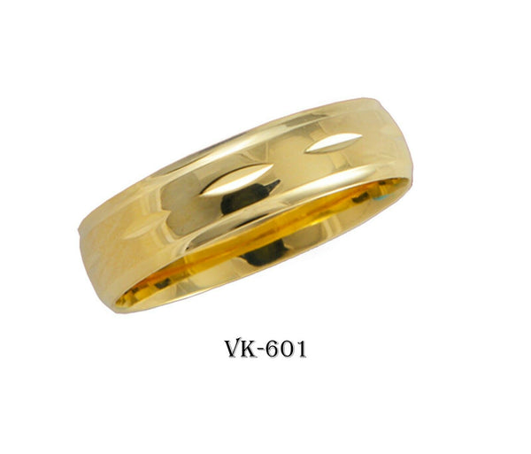 18k Solid Gold Elegant Ladies Modern Shiny Finished Flat Band 5mm Ring VK601v(Y)