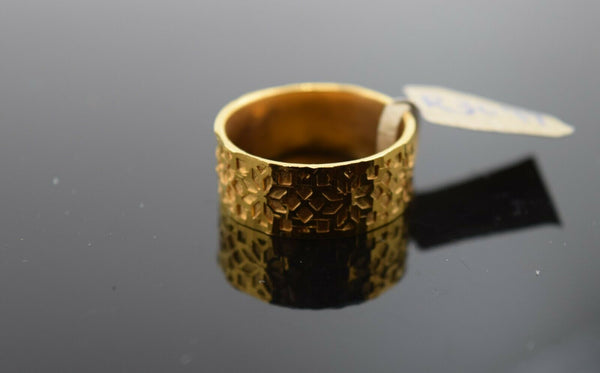 22k Ring Solid Gold Ring Ladies Jewelry Modern Snowflake Pattern Design R3099
