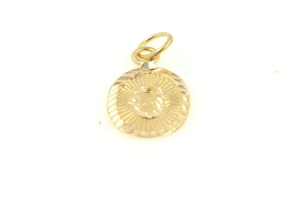 22k 22ct Solid Gold Charm Letter O Pendant Oval Design p1147 ns