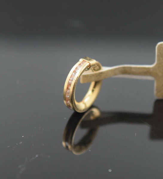 18k Pendant Solid Gold Ladies Jewelry Simple Single Ring Design P3094
