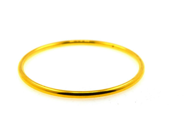 22k Solid Gold Ladies Bangle Simple Plain High Glossy Design br56
