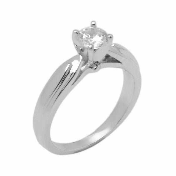 14k Solid Gold Elegant ladies Modern Overlapping Round Solitaire Ring D2108v