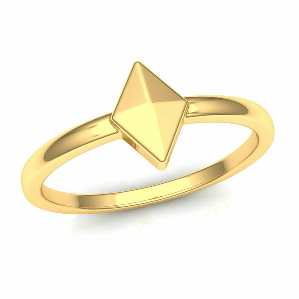 22k Solid Yellow Gold Ladies Jewelry Modern Band with Triangular Design CGR57