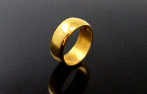 22k Band Solid gold Unisex Thick Width Ring Plain Band R1479 mf