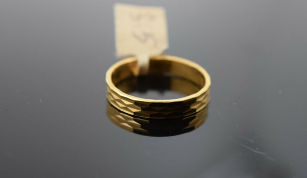 22k Ring Solid Gold Ring Ladies Jewelry Modern High Polished Band R1696