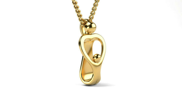 22k Solid Yellow Gold Ladies Jewelry Elegant Human Pendant CGP19