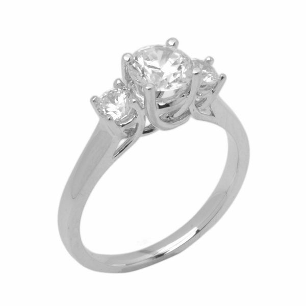 14k Solid Gold Elegant ladies Modern Cluster Round Solitaire Ring D2034v