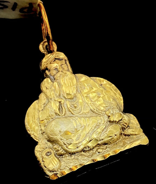 22k 22ct Solid Gold ELEGANT Simple Diamond Cut Religious Sai Baba Pendant P1519