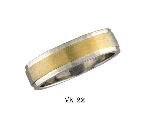 18k Solid Gold Elegant Ladies Modern Shiny Finish Flat Band 6MM Ring Vk22v