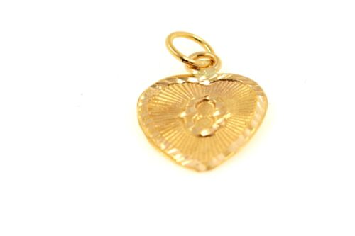 22k 22ct Solid Gold Charm Letter O Pendant Heart Design p1190 ns