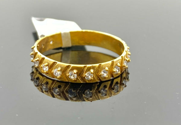 "22k Ring Solid Gold ELEGANT Charm Ladies Band SIZE 7.25 ""RESIZABLE"" r2559mon"