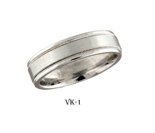 18k Solid Gold Elegant Ladies Modern Satin Finish Flat Band 6MM Ring VK1v