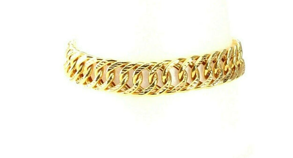 22k Bracelet Solid Gold Simple Mens Classic O Ring Bracelet Design b4095