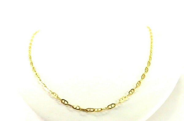 "22k Chain Yellow Solid Gold Chain Necklace Cable Design Charm Length 20 ""c3157"